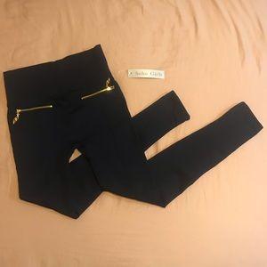 Soho Girls | High Waistband Leggings with Zippers